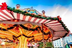 Dresda, Germania - Striezelmarkt sul Natale fotografia stock