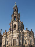 Dresda Hofkirche Fotografia Stock Libera da Diritti