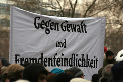 Dresde, 13 février - aucune violence Images stock