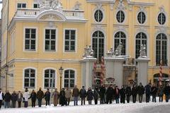 Dresde, 13 février - le réseau humain Image libre de droits
