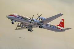 DRESDE, ALLEMAGNE - L'AMI 2015 : avions de transport de passagers Ilyushin IL-18W Photos stock