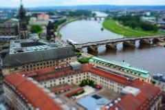 Dresde chez l'Elbe, Allemagne Image libre de droits