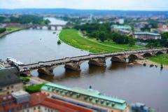 Dresde chez l'Elbe, Allemagne Images stock