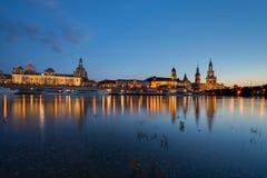 Dresde chez l'Elbe, Allemagne Photographie stock libre de droits
