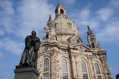Dresde Frauenkirche, Allemagne photo stock