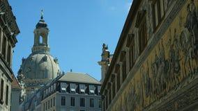 Dresde Frauenkirche une église luthérienne images libres de droits