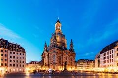 Dresde la nuit, Allemagne Image stock