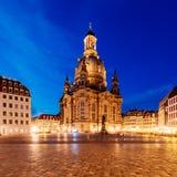 Dresde la nuit, Allemagne Photographie stock libre de droits
