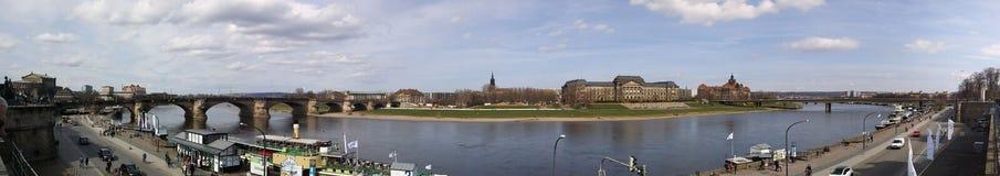 Dresde moderne de la terrasse du Brul photos libres de droits