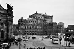 Dresde noire et blanche Image libre de droits