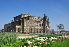 Dresde Semperoper Photographie stock