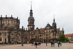 dresden Германия Виды города разбивочное историческое Стоковые Фотографии RF