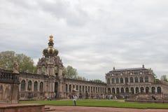dresden Германия Виды города Строб кроны Стоковое фото RF