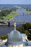 Dresden. Panorama of Dresden and river Elbe, Germany Royalty Free Stock Image