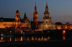 Dresden. During the blue hour Stock Image