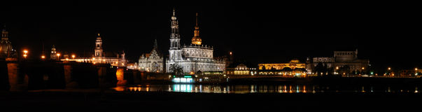 Dresden. View to the center of dresden at midnight Royalty Free Stock Image