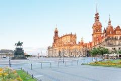 Dresden am Abend Lizenzfreie Stockfotografie