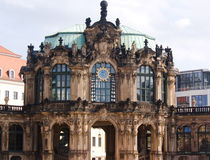 Dresden, aged building and modern Royalty Free Stock Images