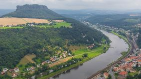 The Dresden Albe Valley, a Unesco World Heritage site royalty free stock photography