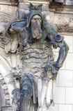 Dresden, Alemanha Escultura do atlas da casa histórica Fotos de Stock Royalty Free