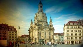 DRESDEN, ALEMANHA: Igreja de Dresden Frauenkirche literalmente de nossa senhora fotografia de stock royalty free