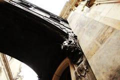 DRESDEN, ALEMANIA - 10 DE MAYO: Fragmento de la iglesia católica de la corte real de Sajonia Imagen de archivo