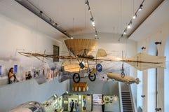 DRESDEN, ALEMANIA - EL AMI 2015: máquina de vuelo antigua con el propell Foto de archivo