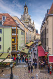 Dresden Alleyway Royalty Free Stock Photography