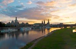 Dresden altstadt sunset Stock Photos