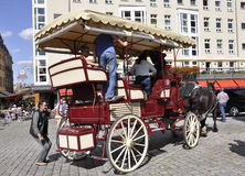 Dresden,august 28: Carriage downtown Dresden in Germany Stock Photo