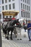 Dresden,august 28: Carriage downtown Dresden in Germany Royalty Free Stock Photo