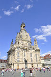 Dresden,August 28: Cathedral Frauenkirch from Dresden in Germany Royalty Free Stock Photos