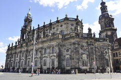 Dresden,August 28:Cathedral Trinitatis from Dresden in Germany Stock Photo