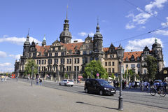 Dresden,August 28:Residence Palace from Dresden in Germany Royalty Free Stock Images