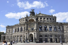 Dresden,August 28:Semper Opera House from Dresden in Germany Royalty Free Stock Image