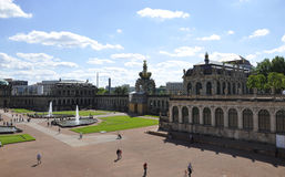 Dresden,august 28:Zwinger Palace courtyard from Dresden in Germany royalty free stock photography