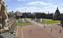 Dresden,august 28:Zwinger Palace courtyard from Dresden in Germany Stock Image