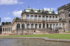 Dresden,august 28:Zwinger Palace from Dresden in Germany stock photography