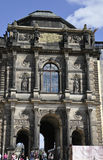 Dresden,august 28:Zwinger Palace entrance from Dresden in Germany royalty free stock photo