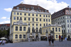 Dresden, 28 augustus: De historische bouw van Dresden in Duitsland Royalty-vrije Stock Afbeelding