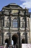 Dresden, 28 augustus: De ingang van het Zwingerpaleis van Dresden in Duitsland Royalty-vrije Stock Foto