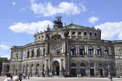 Dresden, 28 Augustus: Het Huis van de Semperopera van Dresden in Duitsland Royalty-vrije Stock Afbeelding