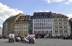 Dresden, 28 augustus: Het plein van de binnenstad van Dresden in Duitsland Stock Foto