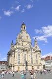 Dresden, 28 Augustus: Kathedraal Frauenkirch van Dresden in Duitsland Royalty-vrije Stock Foto's