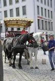 Dresden, 28 augustus: Vervoer Dresden van de binnenstad in Duitsland Royalty-vrije Stock Foto
