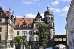 Dresden, 28 Augustus: Woonplaatspaleis van Dresden in Duitsland Royalty-vrije Stock Foto's