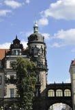 Dresden, 28 Augustus: Woonplaatspaleis van Dresden in Duitsland Royalty-vrije Stock Afbeeldingen