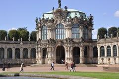 Dresden, 28 augustus: Zwingerpaleis van Dresden in Duitsland Stock Afbeeldingen