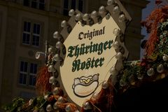 Dresden autumn market Royalty Free Stock Photography