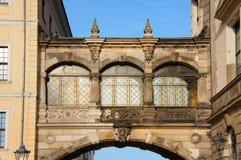 Dresden balkongbarock Arkivbilder
